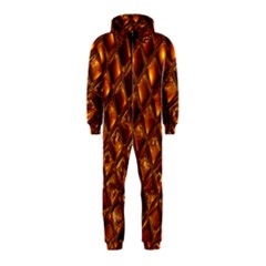 Caramel Honeycomb An Abstract Image Hooded Jumpsuit (Kids)