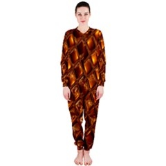 Caramel Honeycomb An Abstract Image OnePiece Jumpsuit (Ladies)