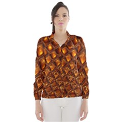 Caramel Honeycomb An Abstract Image Wind Breaker (women)