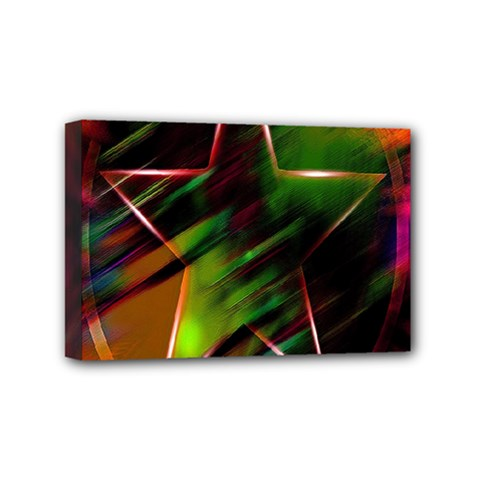 Colorful Background Star Mini Canvas 6  x 4