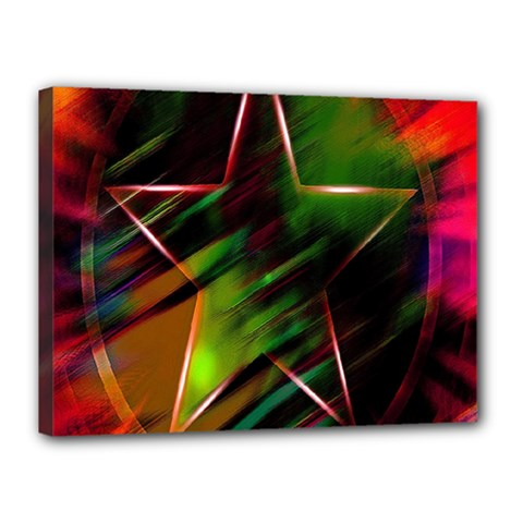 Colorful Background Star Canvas 16  X 12