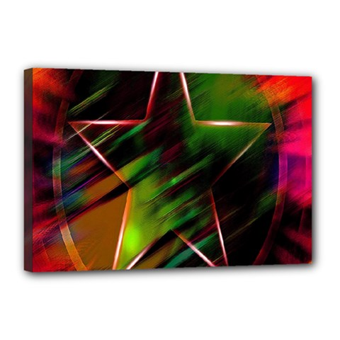 Colorful Background Star Canvas 18  x 12