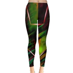 Colorful Background Star Leggings