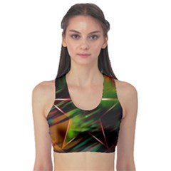 Colorful Background Star Sports Bra