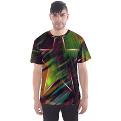 Colorful Background Star Men s Sport Mesh Tee