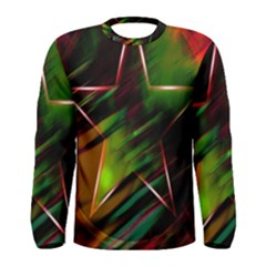 Colorful Background Star Men s Long Sleeve Tee
