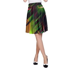 Colorful Background Star A-Line Skirt