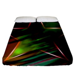 Colorful Background Star Fitted Sheet (king Size)