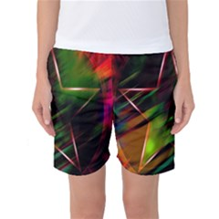 Colorful Background Star Women s Basketball Shorts