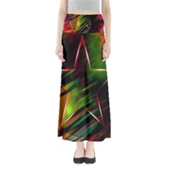 Colorful Background Star Maxi Skirts