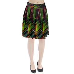 Colorful Background Star Pleated Skirt