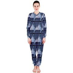 Snow Peak Abstract Blue Wallpaper OnePiece Jumpsuit (Ladies)