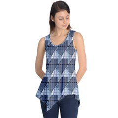 Snow Peak Abstract Blue Wallpaper Sleeveless Tunic