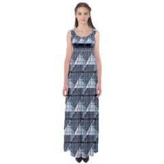 Snow Peak Abstract Blue Wallpaper Empire Waist Maxi Dress