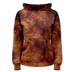 Abstract Brown Smoke Women s Pullover Hoodie