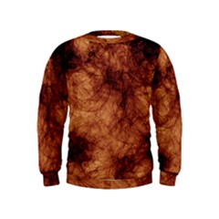 Abstract Brown Smoke Kids  Sweatshirt