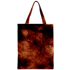 Abstract Brown Smoke Zipper Classic Tote Bag