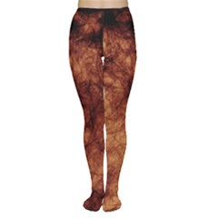 Abstract Brown Smoke Women s Tights