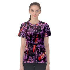 Abstract Painting Digital Graphic Art Women s Sport Mesh Tee