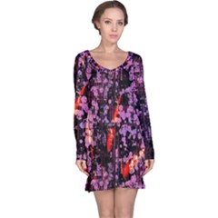 Abstract Painting Digital Graphic Art Long Sleeve Nightdress