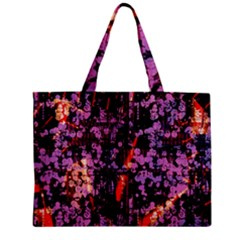 Abstract Painting Digital Graphic Art Zipper Mini Tote Bag
