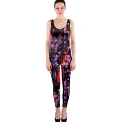 Abstract Painting Digital Graphic Art OnePiece Catsuit