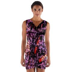 Abstract Painting Digital Graphic Art Wrap Front Bodycon Dress