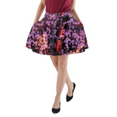 Abstract Painting Digital Graphic Art A Line Pocket Skirt