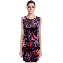 Abstract Painting Digital Graphic Art Classic Sleeveless Midi Dress