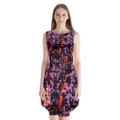 Abstract Painting Digital Graphic Art Sleeveless Chiffon Dress
