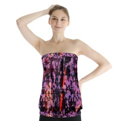 Abstract Painting Digital Graphic Art Strapless Top