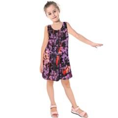 Abstract Painting Digital Graphic Art Kids  Sleeveless Dress