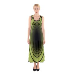 Spiral Tunnel Abstract Background Pattern Sleeveless Maxi Dress