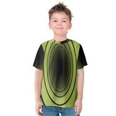 Spiral Tunnel Abstract Background Pattern Kids  Cotton Tee