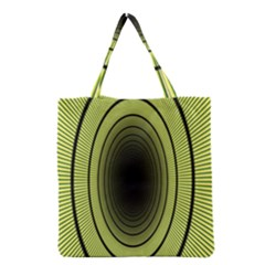 Spiral Tunnel Abstract Background Pattern Grocery Tote Bag