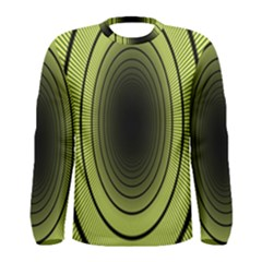 Spiral Tunnel Abstract Background Pattern Men s Long Sleeve Tee