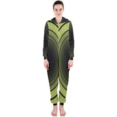 Spiral Tunnel Abstract Background Pattern Hooded Jumpsuit (Ladies)