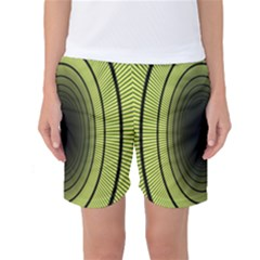 Spiral Tunnel Abstract Background Pattern Women s Basketball Shorts