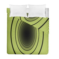 Spiral Tunnel Abstract Background Pattern Duvet Cover Double Side (full/ Double Size)