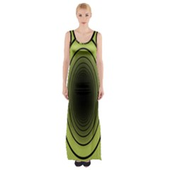 Spiral Tunnel Abstract Background Pattern Maxi Thigh Split Dress