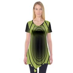 Spiral Tunnel Abstract Background Pattern Short Sleeve Tunic