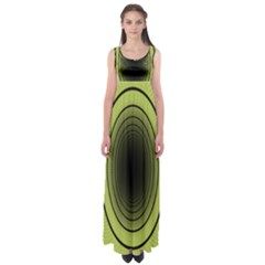Spiral Tunnel Abstract Background Pattern Empire Waist Maxi Dress