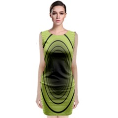 Spiral Tunnel Abstract Background Pattern Classic Sleeveless Midi Dress