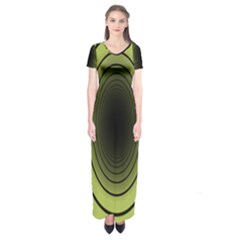 Spiral Tunnel Abstract Background Pattern Short Sleeve Maxi Dress