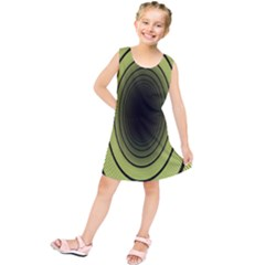Spiral Tunnel Abstract Background Pattern Kids  Tunic Dress