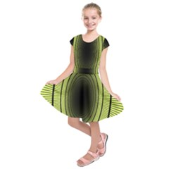Spiral Tunnel Abstract Background Pattern Kids  Short Sleeve Dress