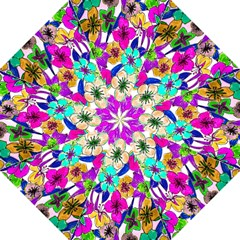 Floral Colorful Background Of Hand Drawn Flowers Hook Handle Umbrellas (medium)