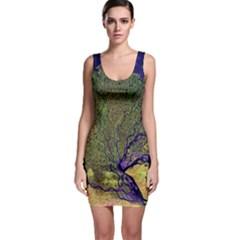 Lena River Delta A Photo Of A Colorful River Delta Taken From A Satellite Sleeveless Bodycon Dress