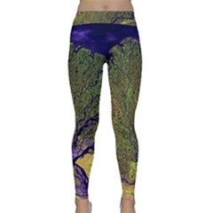 Lena River Delta A Photo Of A Colorful River Delta Taken From A Satellite Classic Yoga Leggings
