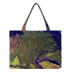 Lena River Delta A Photo Of A Colorful River Delta Taken From A Satellite Medium Tote Bag
